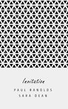 Vector minimal invitation card or ticket. Vector invitation card or ticket, monochrome geometric pattern templates. Ideal for Save The Date, tickets, anniversary Royalty Free Stock Photo
