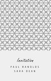 Vector minimal invitation card or ticket. Vector invitation card or ticket, monochrome geometric pattern templates. Ideal for Save The Date, tickets, anniversary Royalty Free Stock Image