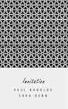 Vector minimal invitation card or ticket. Vector invitation card or ticket, monochrome geometric pattern templates. Ideal for Save The Date, tickets, anniversary Royalty Free Stock Photos