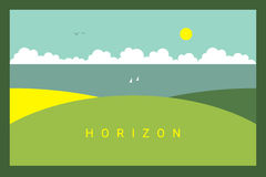 Vector Minimal Poster: Horizon Stock Images