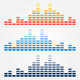 Vector minimal sound waves icons Stock Photos