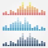 Vector minimale correcte golvenpictogrammen royalty-vrije illustratie