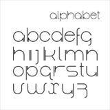 Vector minimalist alphabet. Royalty Free Stock Photography