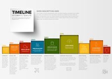 Vector Minimalist colorful timeline template Stock Image