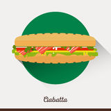 Vector minimalist food icon. Sandwich with Royalty Free Stock Photo