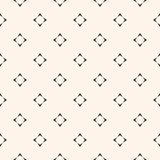 Vector minimalist seamless pattern with small star shapes, square. Royalty Free Stock Photos
