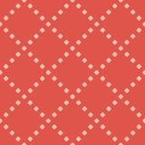 Vector minimalist geometric polka dot seamless pattern. Red and pink colors. Vector minimalist geometric polka dot seamless pattern. Terracotta red and pink vector illustration