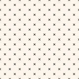 Simple vector minimalist geometric seamless pattern with small squares, dots stock illustration