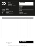 Vector minimalist invoice Stock Photo
