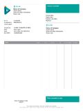 Vector minimalist invoice Royalty Free Stock Images