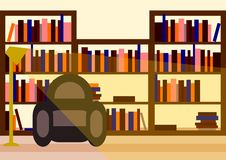 Vector minimalist library. With a chair. Available in vector - svg vector illustration