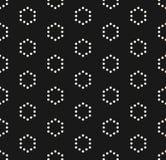 Vector minimalist seamless pattern, simple geometric texture wit. Vector minimalist seamless pattern, simple monochrome geometric texture with small hexagons in Stock Photos