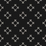 Geometric seamless pattern with curved linear shapes. Vector minimalist seamless pattern, subtle dark geometric texture with thin curved linear shapes Royalty Free Stock Images