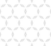 Vector minimalist seamless pattern with thin outline rhombuses Stock Photography
