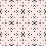 Vector minimalist texture, geometric seamless pattern with crosses Royalty Free Stock Photography