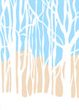 Vector minimalistic background winter forest Stock Images