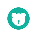 Vector minimalistic bear icon. Isolated on white. An illustration of a cute mammal Royalty Free Stock Photos