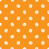 Vector minimalistic burger seamless pattern Royalty Free Stock Photography