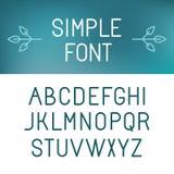 Vector minimalistic font set Stock Image