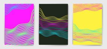 Vector minimalistic malplaatjes met lijnen Stock Afbeeldingen