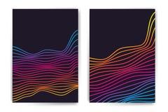 Vector minimalistic malplaatjes met lijnen Stock Foto