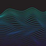 Vector minimalistic malplaatjes met lijnen Stock Afbeelding
