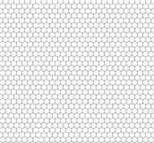 Vector Minimalistic Seamless Hexagon Pattern, Outline Honeycombs Background. royalty free illustration