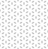 Vector minimalistic seamless pattern, black rhombuses Stock Images