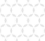 Vector minimalistisch naadloos patroon met dunne overzichtsruiten Stock Fotografie