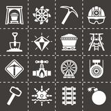 Vector Mining icon set Royalty Free Stock Photography