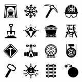 Vector Mining icon set Stock Image