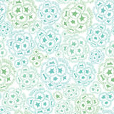 Vector mint green and blue abstract seaweed plant texture drawing seamless pattern background. Great for subtle Stock Photos