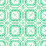 Vector mint green geometric art deco pattern. Vector geometric art deco pattern with white shapes on green Royalty Free Illustration
