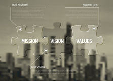 Vector Mission, vision and values diagram schema Stock Photography