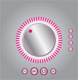 Vector mixer volume control Royalty Free Stock Photography