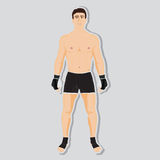 Vector mma fighter. And uniform for competition Stock Photography