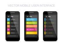 Vector mobiel gebruikersinterfaceontwerp Stock Foto