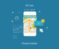 Vector mobiele telefoon - geschiktheidsapp concept  stock illustratie