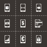 Vector mobile banking icon set Royalty Free Stock Photos
