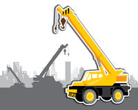 Vector mobile crane Stock Image
