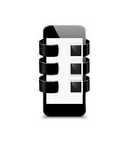 Vector mobile Devices - Illustration Stock Image