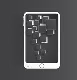 Vector mobile icon and glossy Royalty Free Stock Photo