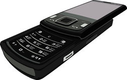 Vector mobile phone Stock Image