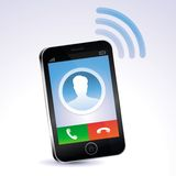 Vector mobile phone calling Stock Image