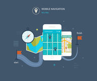 Vector mobile phone - fitness app concept on vector illustration