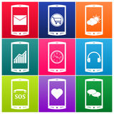 Vector mobile phone icons Stock Images