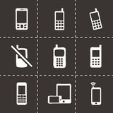 Vector mobile phone icons set Stock Image