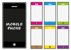 Vector mobile phone set Stock Image