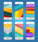 Vector Mobile Phones Arrows Backgrounds. Stock Images