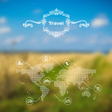 Vector mobile and web interface travel theme Stock Images